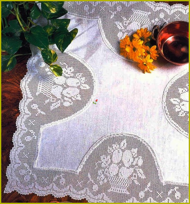 Вязание филейное для дома