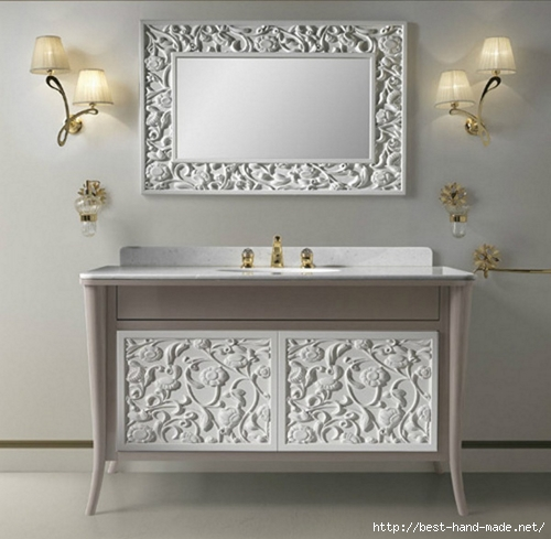 Shabby chic master bathroom
