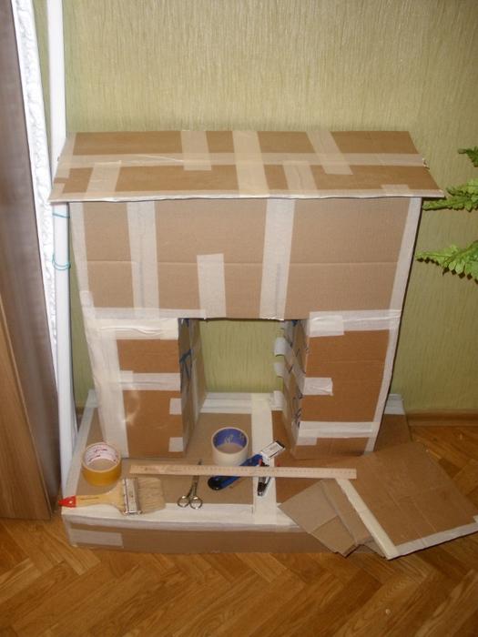 Домик с картонной коробКак сделать канализация в