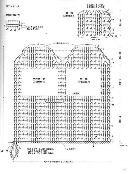схемы мочалки-варежки крючком