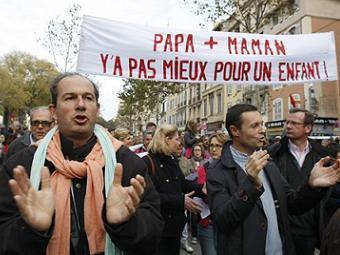 Франция - протесты против однополых браков (340x255, 21Kb)