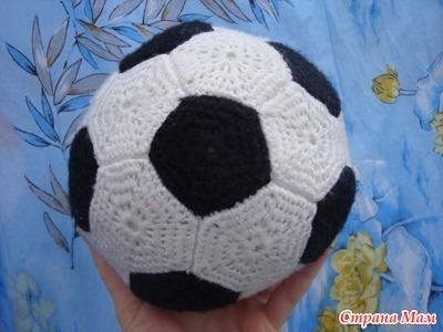 футбольный мяч - вязание