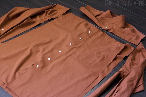 летнее платье из мужской рубашки своими руками
