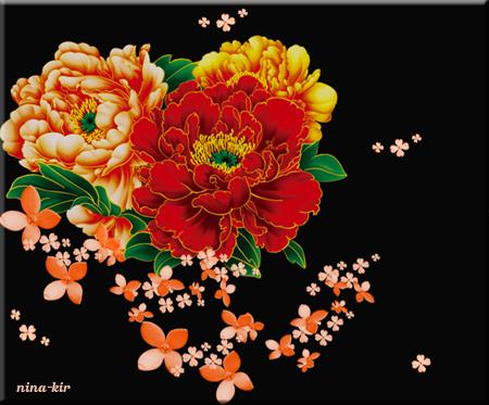 Рисованные-пионы-Сх (450x373, 187Kb)