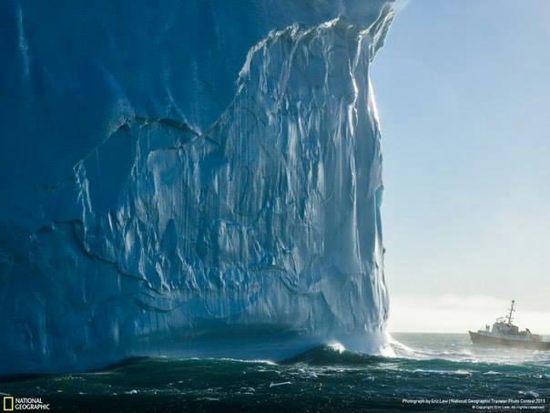«Ледяная стена». Снимок сделан у восточного побережья острова Южная Георгия (604x453, 173Kb)