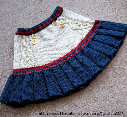 юбки для подростков спицами: