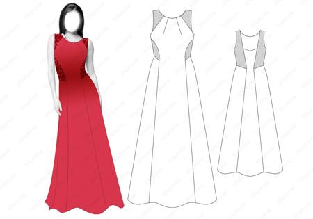Как сшить вечернее платье в пол выкройки