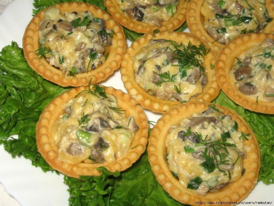 Закуски с грибами рецепты простые
