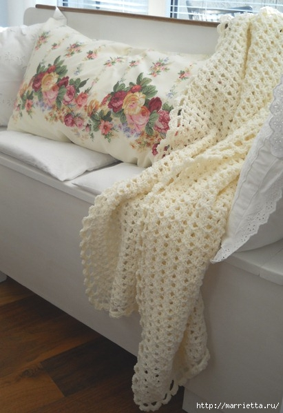 Пледы подушки покрывала схемы