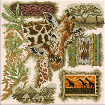 панно с жирафами (350x350, 69Kb)
