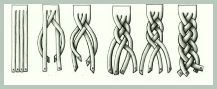 Техника плетение косы рыбий хвост