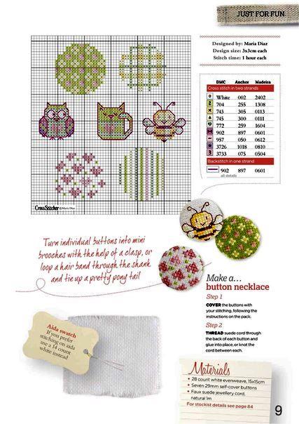 Схема вышивки пуговицы