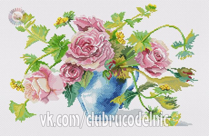 Roses in a vase (700x456, 498Kb)