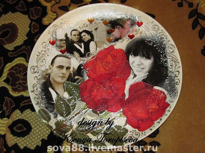 Фотография на тарелке своими руками 100