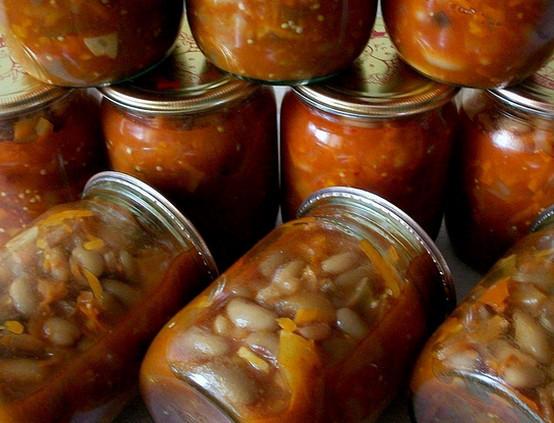 Баклажаны с фасолью на зиму рецепт с фото пошагово