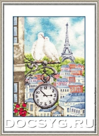 схема вышивки Весна в Париже (328x448, 132Kb)