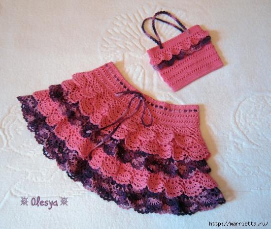 Юбочка и сумочка крючком для маленькой девочки (1) (550x466, 213Kb)