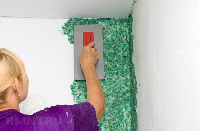 все стоимость работы нанесения жидких обоев на стену означает это