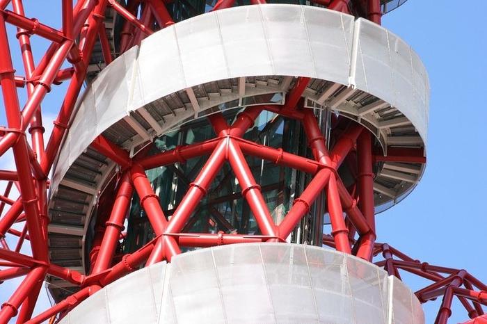 смотровая башня ArcelorMittal Orbit лондон 3 (700x466, 343Kb)