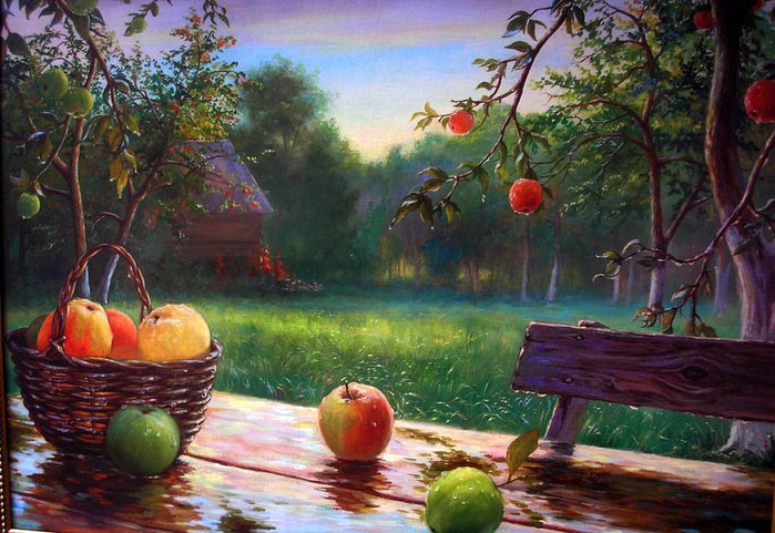 501686__apples-in-the-rain-unknown-author-for_p (700x481, 120Kb)