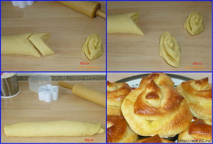 Как красиво сделать дрожжевые булочки с фото 529