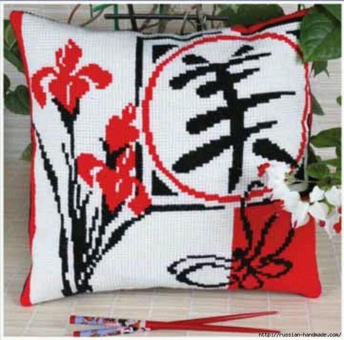 Вышивка в японском стиле. Схемы (1) (700x692, 359Kb)