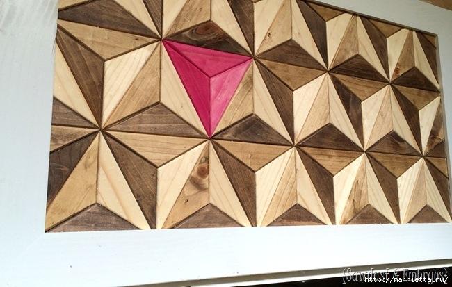 Геометрическое панно из деревянных треугольников (13) (650x413, 180Kb)