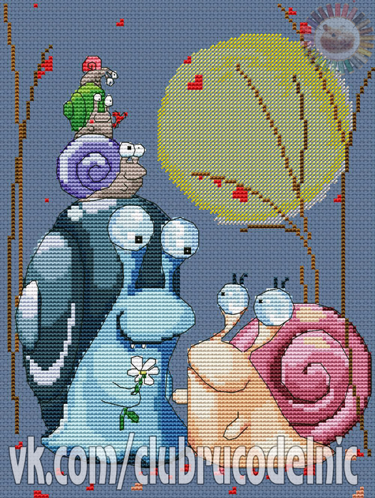 Family of snails a (526x700, 650Kb)