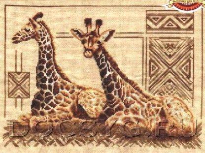 схема вышивки Жирафы (416x311, 166Kb)