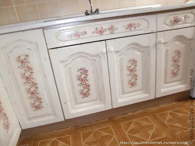 Как покрасит старый кухонный гарнитур своими руками