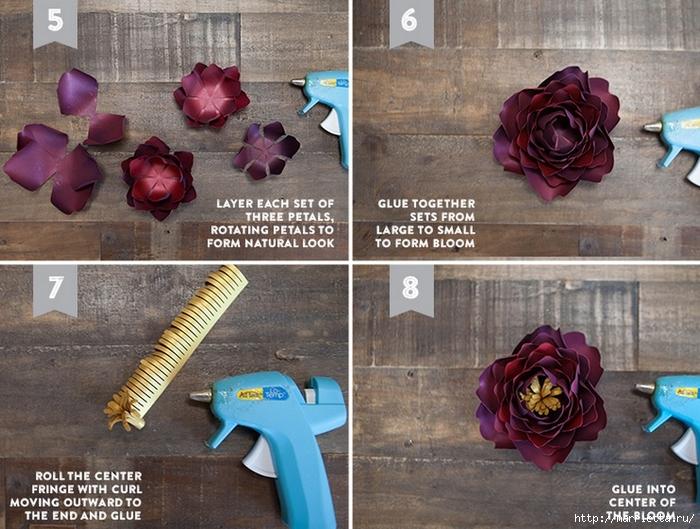 ПИОНЫ - цветы из декоративной металлизированной бумаги для скрапбукинга (5) (700x529, 320Kb)