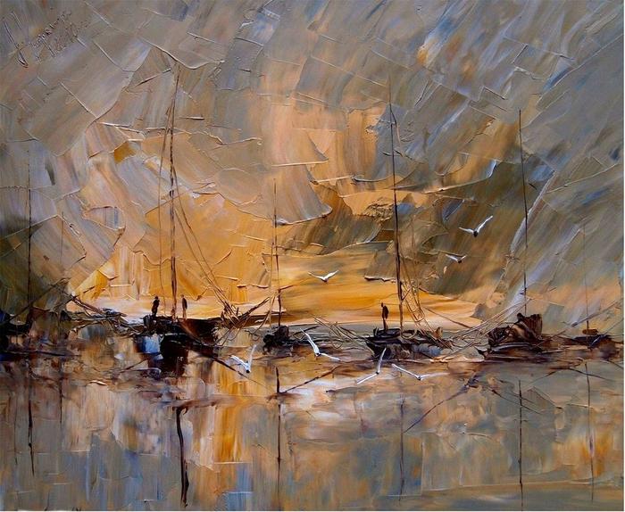 картины польской художницы Юстина Копаня 15 (700x574, 485Kb)