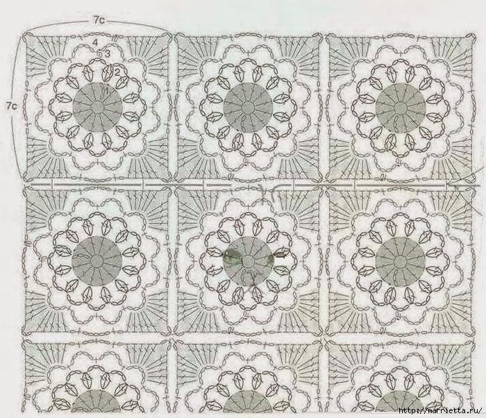 Сумочка и шарфик крючком для маленькой модницы (4) (700x602, 417Kb)