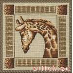 схема вышивки Застенчивый жираф (150x150, 24Kb)