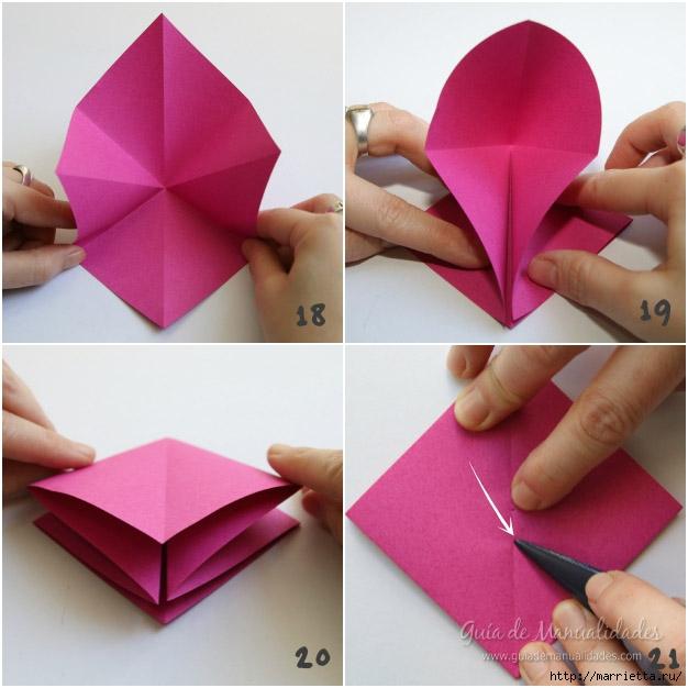 Складываем тюльпаны в технике оригами (5) (626x626, 176Kb)