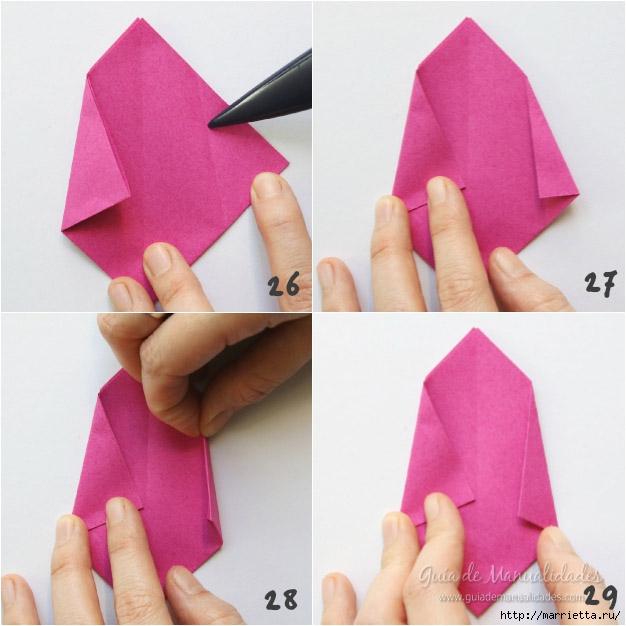 Складываем тюльпаны в технике оригами (7) (626x626, 179Kb)