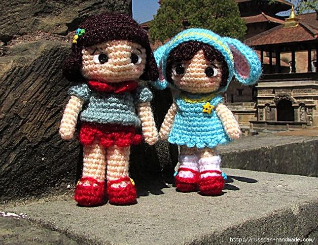 Амигуруми. Маленькая девочка в костюме зайчика. Описание (3) (627x484, 336Kb)