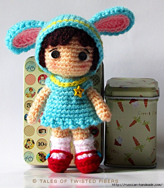 Амигуруми. Маленькая девочка в костюме зайчика. Описание (4) (548x627, 278Kb)