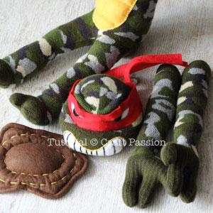 Шьем игрушки из носков. ЧЕРЕПАШКИ НИНДЗЯ (37) (300x300, 83Kb)