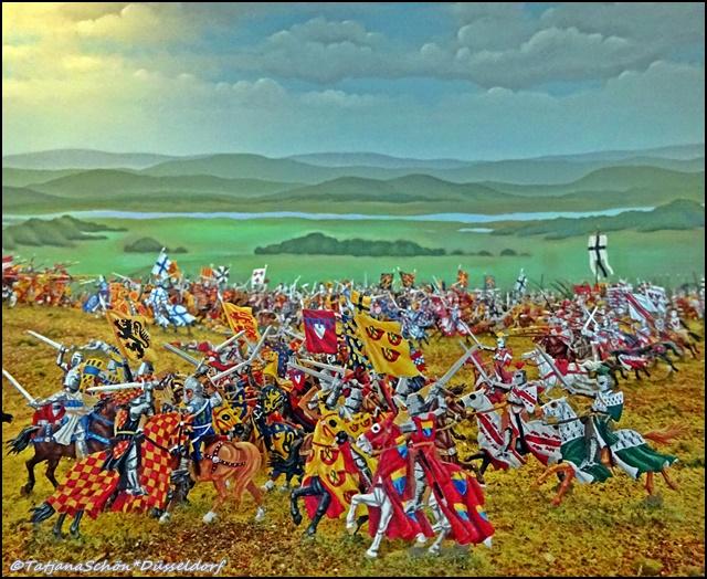 Из истории Дюссельдорфа - битва 1288 - часть экскурсии в бергский замок Шлосс Бург