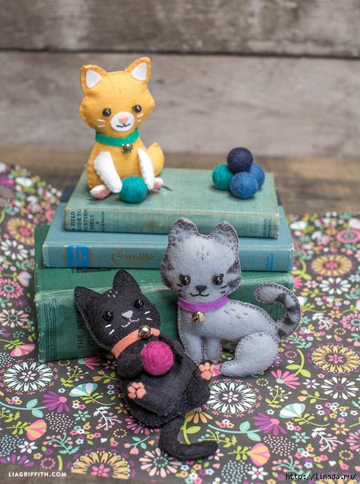 DIY_Felt_Kittens (521x700, 336Kb)