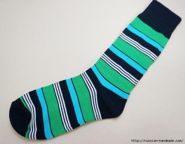 КРОКОДИЛ из носков. Шьем игрушку (6) (599x465, 139Kb)
