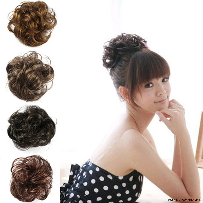 Free Shipping Hair Wave Ponytail Holders Scrunchy Piece Bun Pony Tail Extensions Hairpiece Black Brown Flaxen #L04040/5863438_FreeShippingHairWavePonytailHoldersScrunchyPieceBunPonyTailExtensionsHairpieceBlackBrownFlaxen (700x700, 214Kb)
