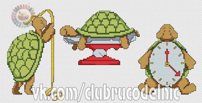 Turtles Birth Sampler (700x355, 308Kb)