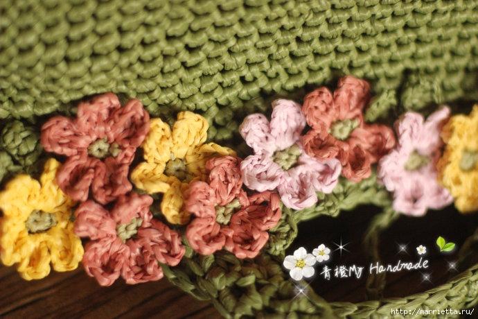 Вязание крючком. Летние сумочки с цветами (3) (690x460, 230Kb)