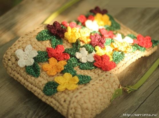 Вязание крючком. Летние сумочки с цветами (7) (556x411, 150Kb)