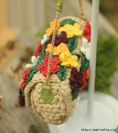 Вязание крючком. Летние сумочки с цветами (9) (403x452, 94Kb)