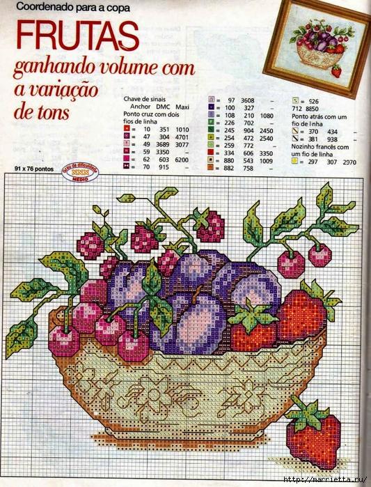 Миниатюрная вышивка. Овощи. Схемы (2) (533x700, 447Kb)