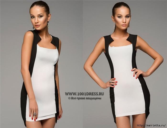 Платье со вставками по бокам сшить своими руками