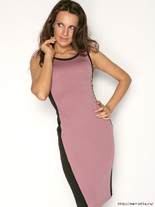 Как сделать вставки в платье